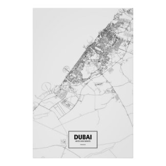 Dubai, United Arab Emirates (preto no branco) Poster