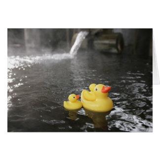 Duckies de borracha japonês cartão comemorativo