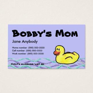 Duckin ao longo do cartão da mamã