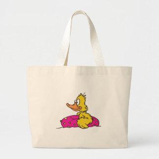 ducky bonito na jangada bolsa de lona