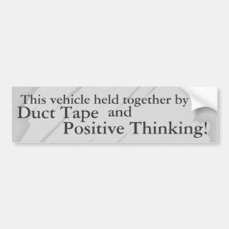 Ductape e pensamento positivo adesivo para carro