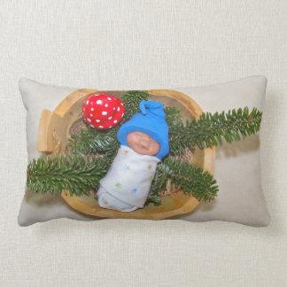 Duende do bebê da argila do sono com Toadstool Almofada Lombar