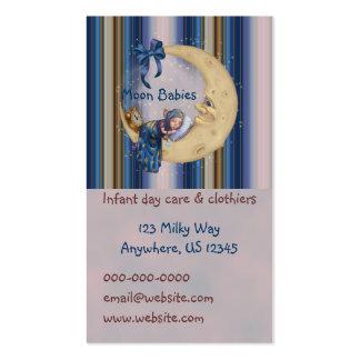 Duende do bebê da lua cartão de visita