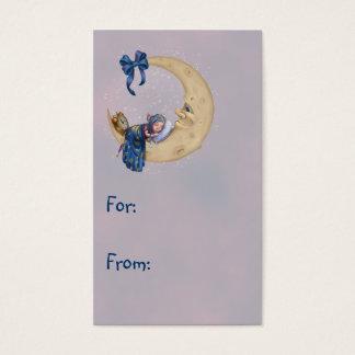 Duende do bebê da lua cartão de visitas