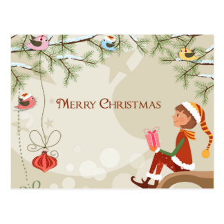 Duende do professor - cartão do Natal Cartao Postal