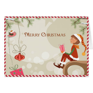 Duende do professor - cartões de Natal