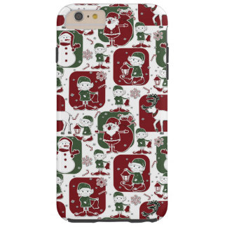 Duendes & bonecos de neve do Natal Capa Tough Para iPhone 6 Plus