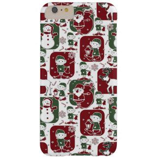 Duendes & bonecos de neve do Natal Capas iPhone 6 Plus Barely There