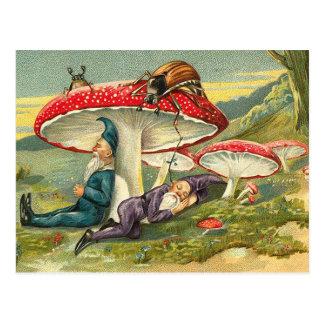 Duendes sonolentos cartão postal