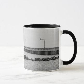 Duluth, caneca preto e branco da foto do farol do