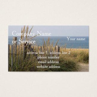 Dunas da praia e de areia cartão de visitas
