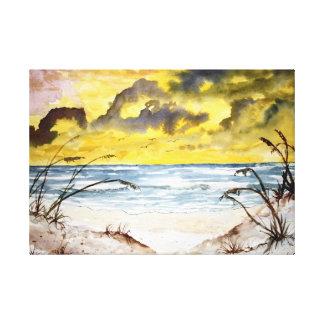 dunas de areia da praia impressão em canvas