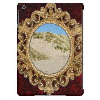 Dunas de areia, fotografia da praia, céu azul capa para iPad air