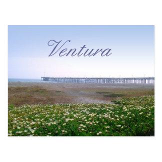 Dunas de Ventura e cartão do viagem do cais