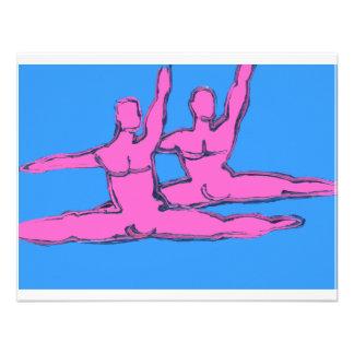 Duo de Jete dos dançarinos Convite Personalizado