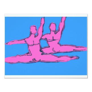 Duo de Jete dos dançarinos Convite 10.79 X 13.97cm