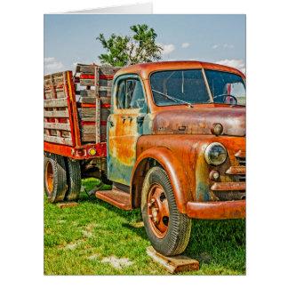 Dupla - caminhão - oxidado velho cartão comemorativo grande