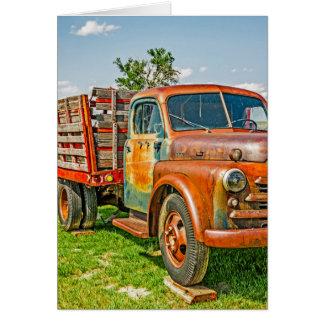 Dupla - caminhão - oxidado velho - vintage cartoes