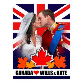 Duque & duquesa do cartão de Cambridge Canadá