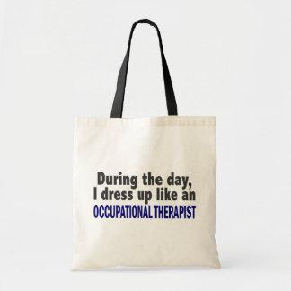 Durante o dia eu visto acima o terapeuta bolsa tote
