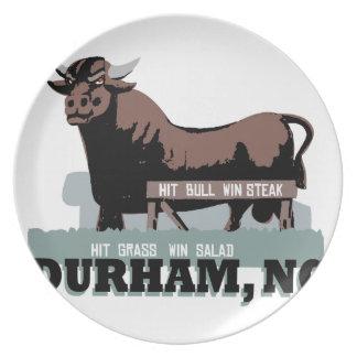 Durham NC Bull Pratos De Festas