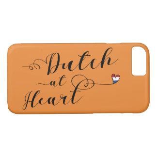 Dutch na capa de telefone móvel do coração,