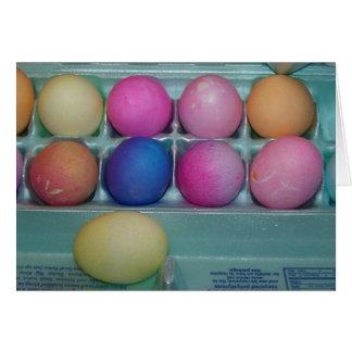 Dúzia ovos coloridos, páscoa cartão comemorativo