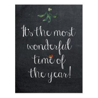 É a época a mais maravilhosa do cartão do ano