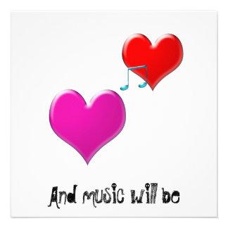 e a música será convite personalizados