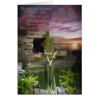 É aleluia aumentada, cartão de páscoa religioso