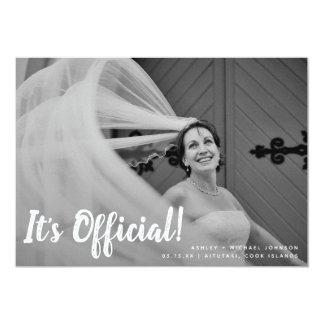 É anúncio do casamento da foto do oficial 2
