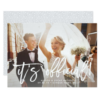 É anúncio   Wedding oficial Convite 12.7 X 17.78cm