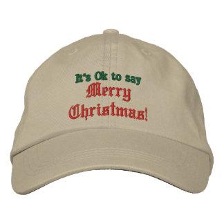 É aprovado dizer o Feliz Natal chapéu, boné de