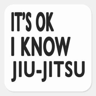 É aprovado mim conhece Jiu-Jitsu Adesivo Quadrado