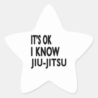 É aprovado mim conhece Jiu-Jitsu Adesivos Estrelas