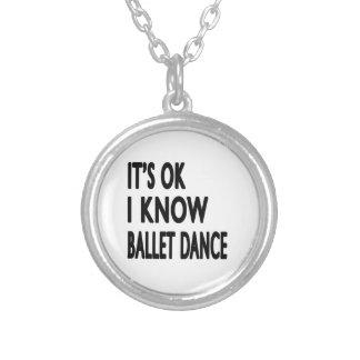 É aprovado mim sabe a dança do balé bijuteria personalizada