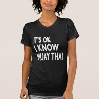 É aprovado mim sabe tailandês de Muay T-shirt