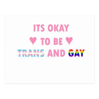 É aprovado ser o transporte e o gay (v1) cartão postal