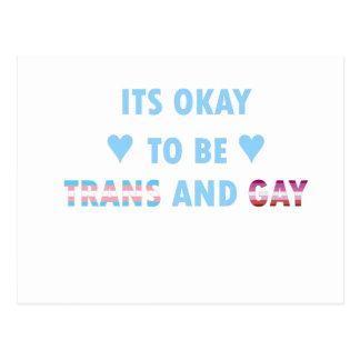 É aprovado ser o transporte e o gay (v3) cartão postal