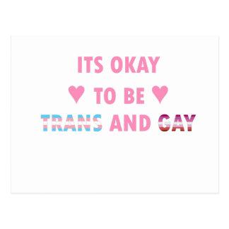 É aprovado ser o transporte e o gay (v4) cartão postal