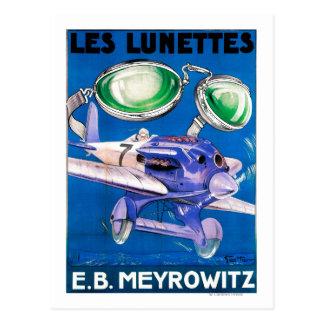 E.B. Propaganda dos óculos de proteção de vôo de Cartoes Postais