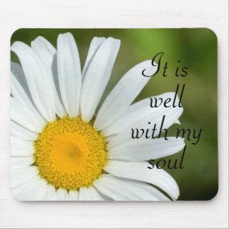 É bem com minha margarida Mousepad floral da alma