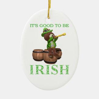 É bom ser irlandês - o dia de St Patrick Ornamento De Cerâmica Oval