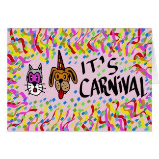 É carnaval cartões