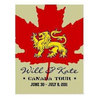 E cartão da excursão de Kate CANADÁ
