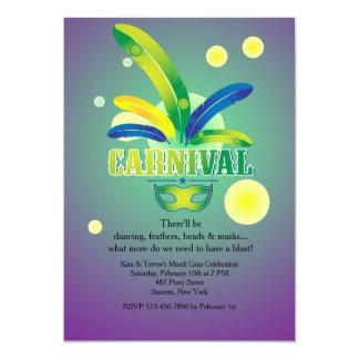 É convite do tempo do carnaval