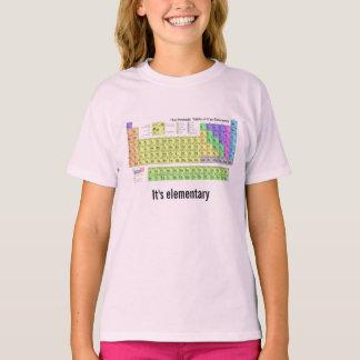 É geek elementar da química da mesa periódica camiseta
