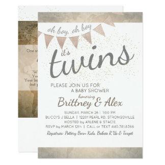 É gêmeos! Convite do chá de fraldas