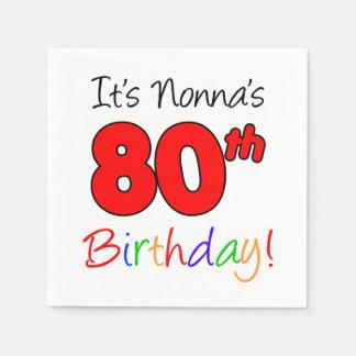 É guardanapo do aniversário do 80 de Nonna