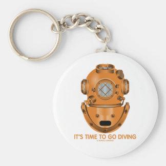 É hora de ir mergulhar (o capacete do mergulho do  chaveiros